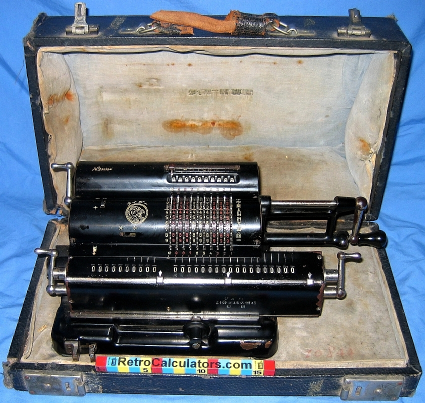 Tiger Japanese Mechanical Calculator In Case circa 1940