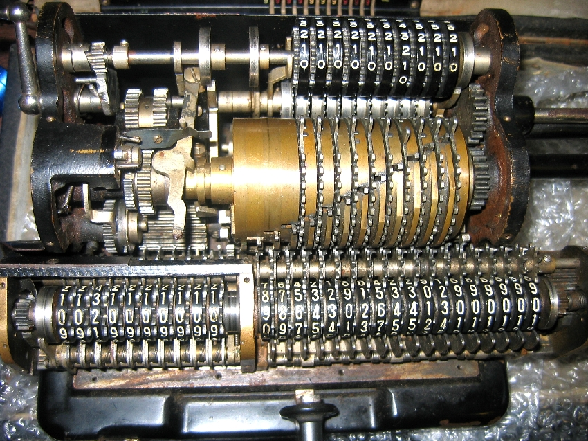 Tiger Japanese Mechanical Calculator Internal Mechanism